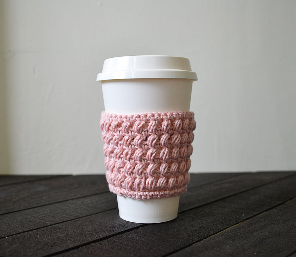 Set Of 3 Crochet Coffee Cup Cozycoffee Cup Sleeve My Little Heart