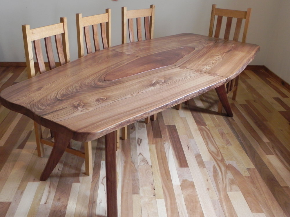 Live Edge Red Elm Dining Table