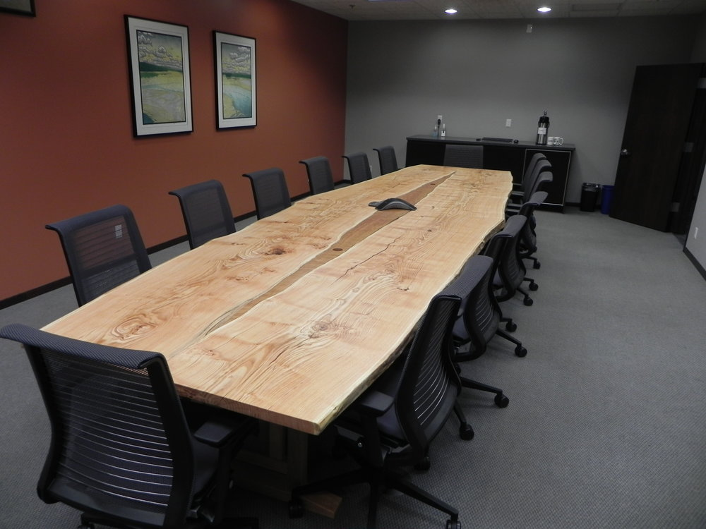Live Edge Honey Locust Conference Table
