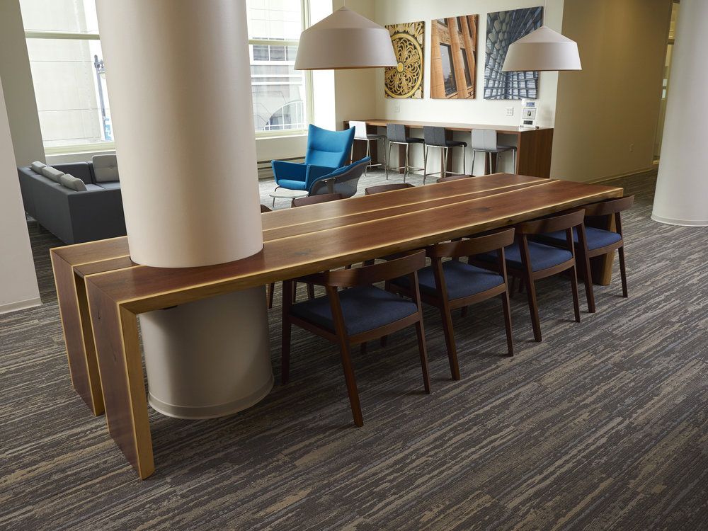 Live Edge Walnut Waterfall Conference Table