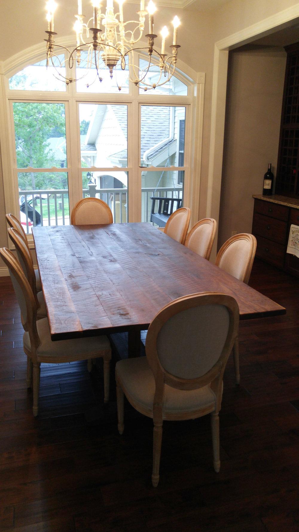 Walnut Hand-Scraped Dining Table