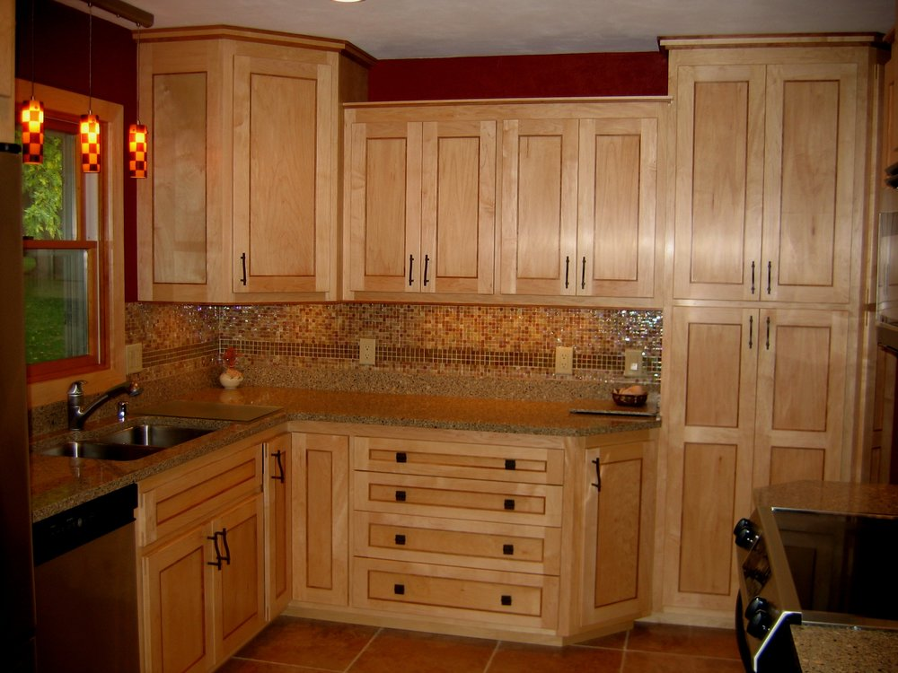 Maple Cabinets with Cherry Accents