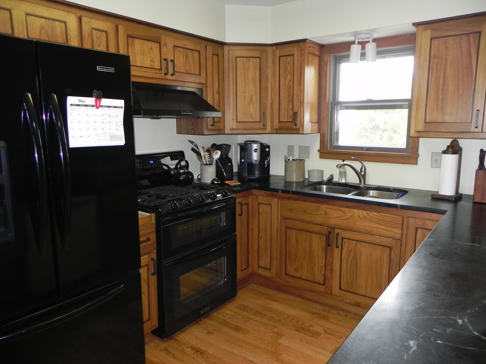 Black Locust Cabinets with Walnut Accents