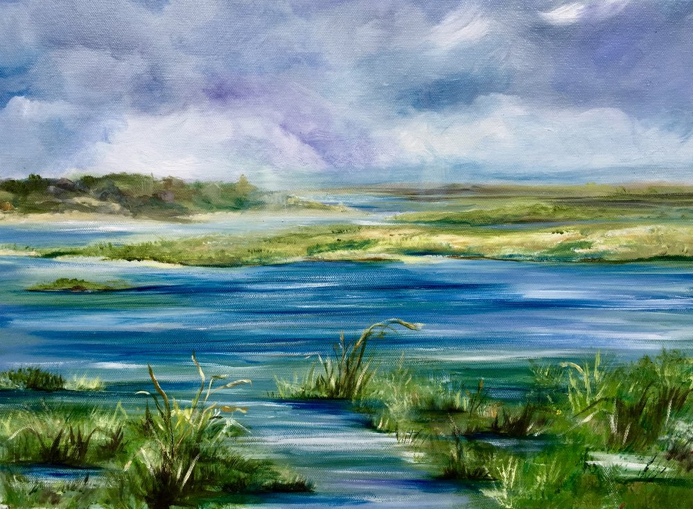 Stormy Marsh - Oil on Canvas 16''x 20'' $300