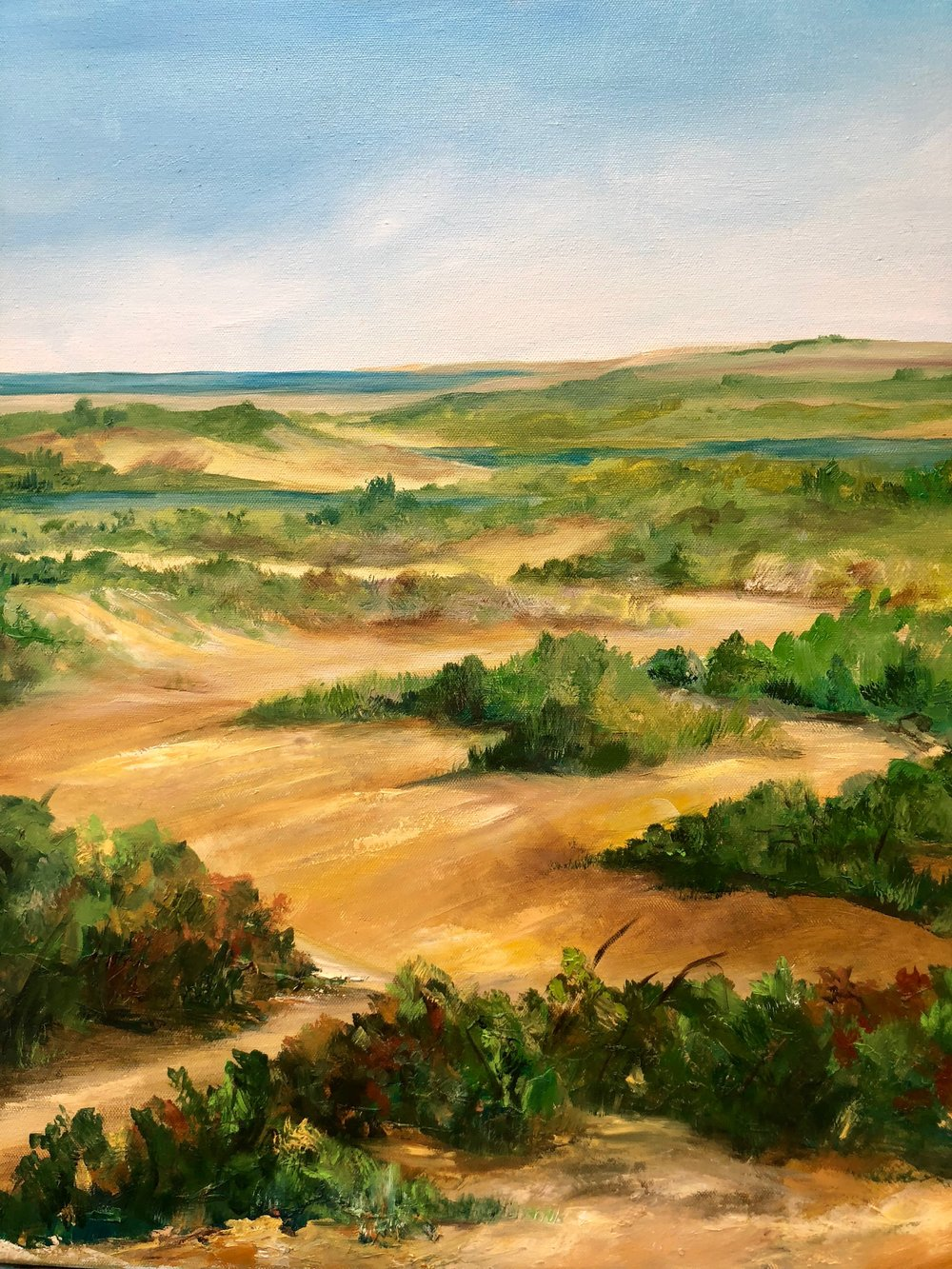 """Dunes Forever - Oil on Canvas 18"""" x 30"""" $300"""