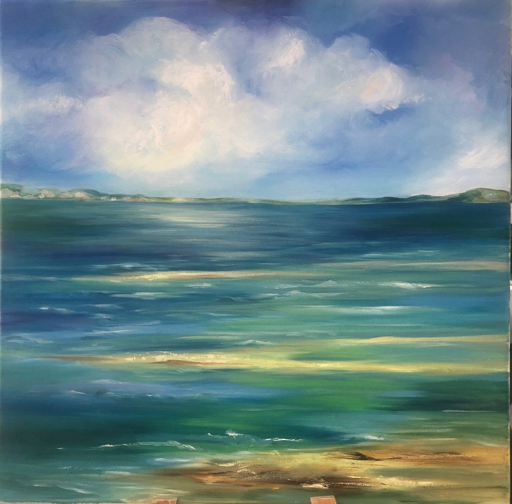 """Changing Weather - Oil on Canvas 20"""" x 20"""" $300"""