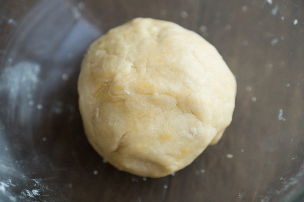 Knead the mixture into a smooth dough. Refrigerate.
