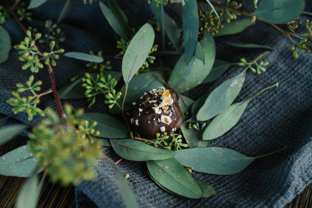Health - conscious INDULGENCE - Prunes + walnuts + bittersweet chocolate