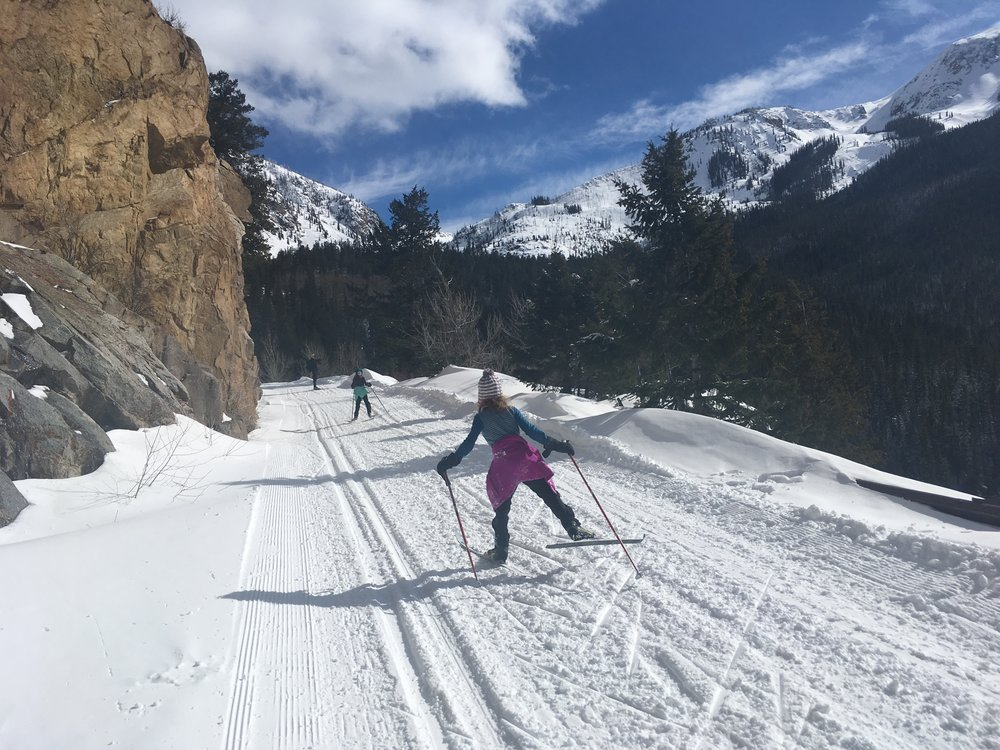 A little skate ski up into the mountains was one of the very real treats of our trip. To keep it real: there were lots of candy bribes and a number of tears involved… but hey, that's life, right?