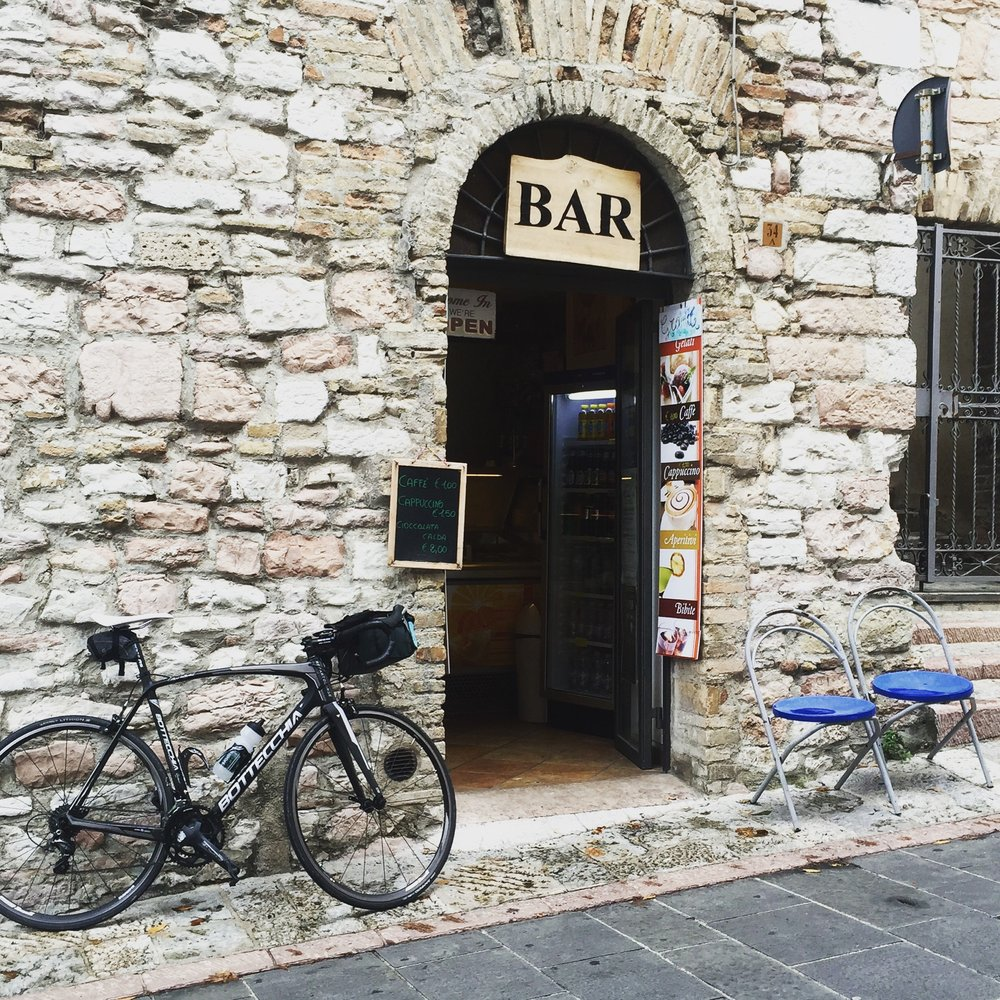 Cyclists always find a great neighborhood bar
