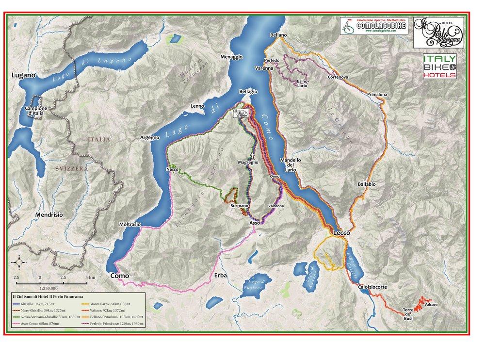 2016 Map - Data sources:MapBox, Open Street Map, ComoLagoBike, ESRI