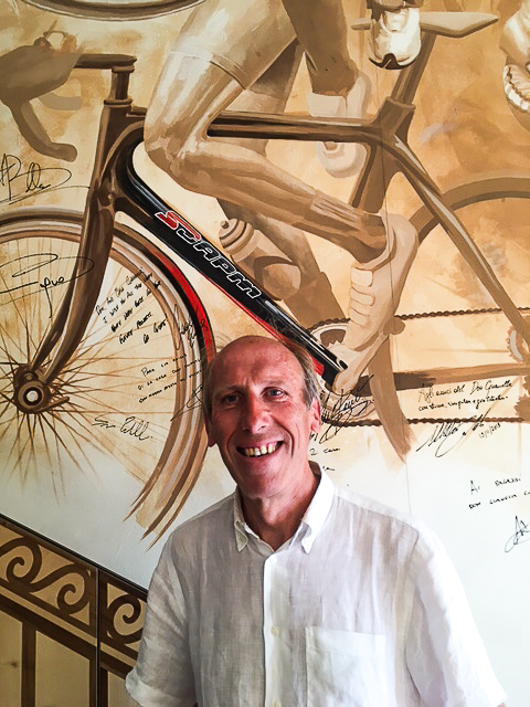 "The man at the center of the community, Il Don ""the cycling priest"" at Casa Don Guanella"