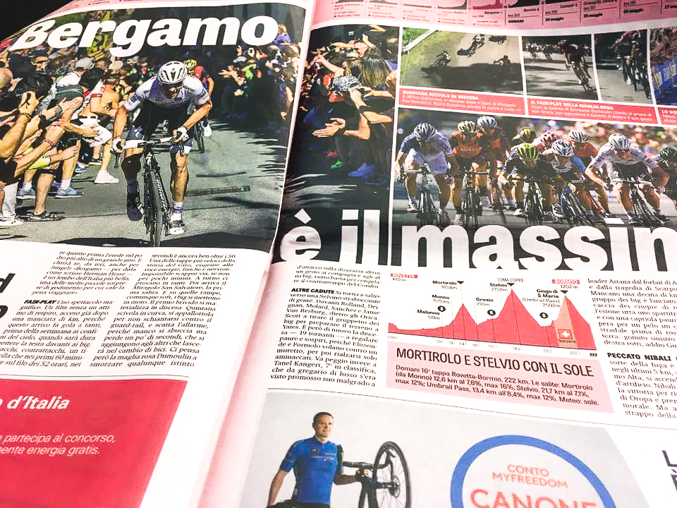 La Gazetta does the Giro right