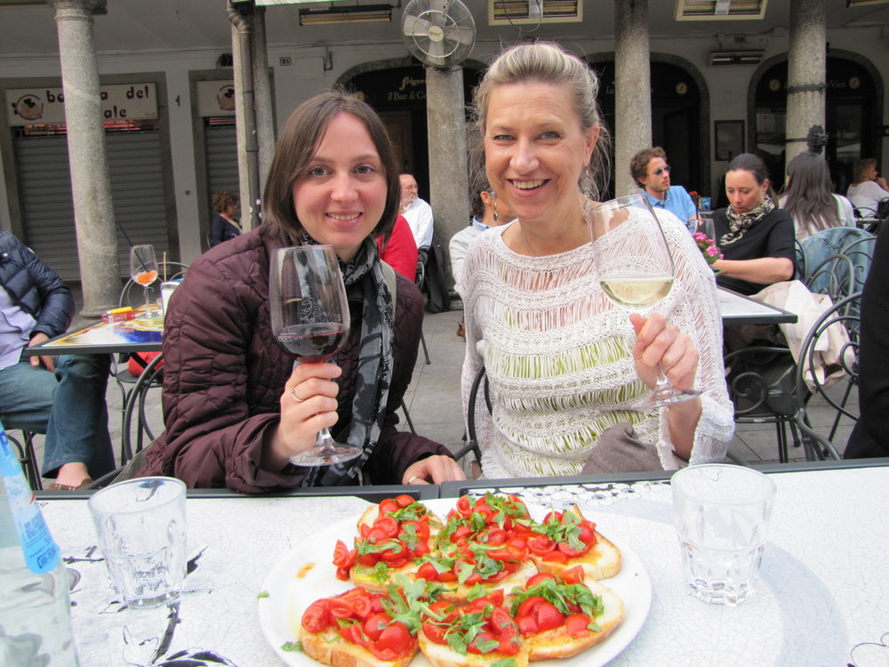 A walking tour with stops for wine and food, yes please! Photo courtesy Lake Como Food Tours