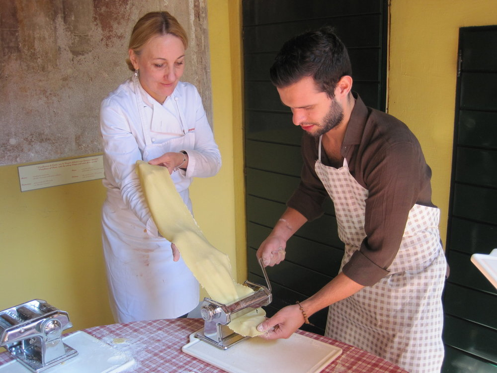 Let's make pasta! Photo courtesy Lake Como Food Tours