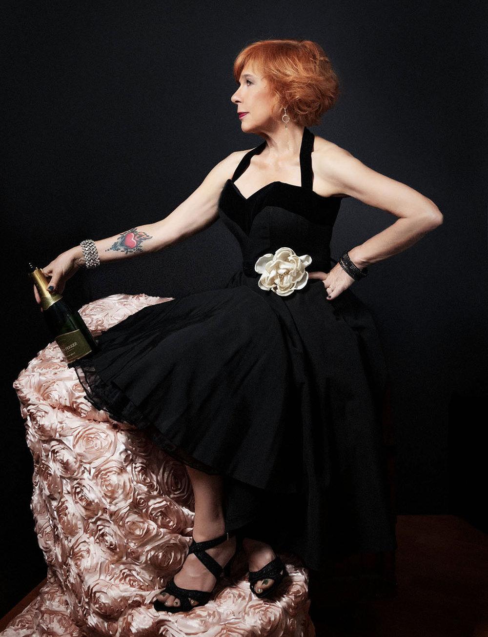 lolo_black dress champers.jpg