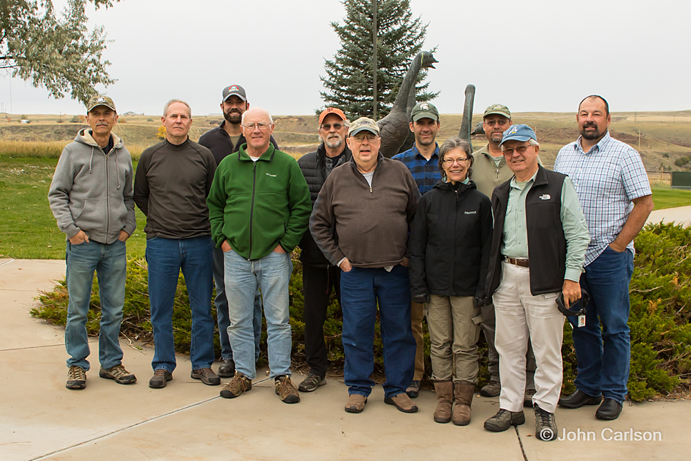 Group photo from the annual meeting in Great Falls on 7 October 2016. Left to right: Ted Nordhagen, Jeff Marks (Secretary), Forrest Rowland, Bob Martinka, Craig Hohenberger, Chuck Carlson (retired at close of meeting), Coburn Currier, Rose Leach (Chair), Nate Kohler, Ed Harper, and John Carlson. Missing: Harriet Marble and Fritz Prellwitz, both of whom retired from the Committee in 2016.