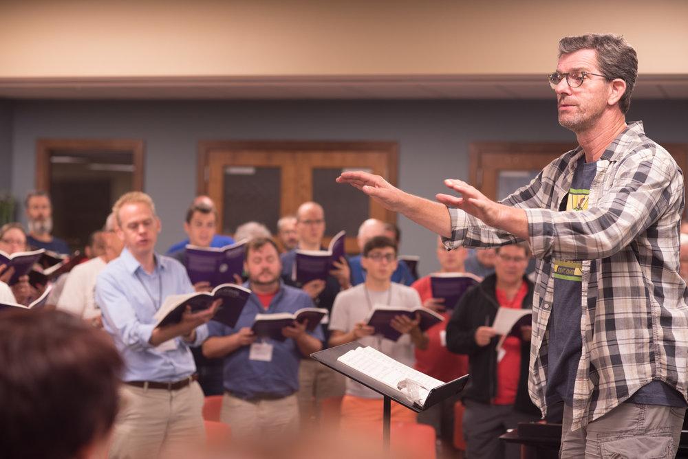 Scott MacPherson rehearses IVE in 2016