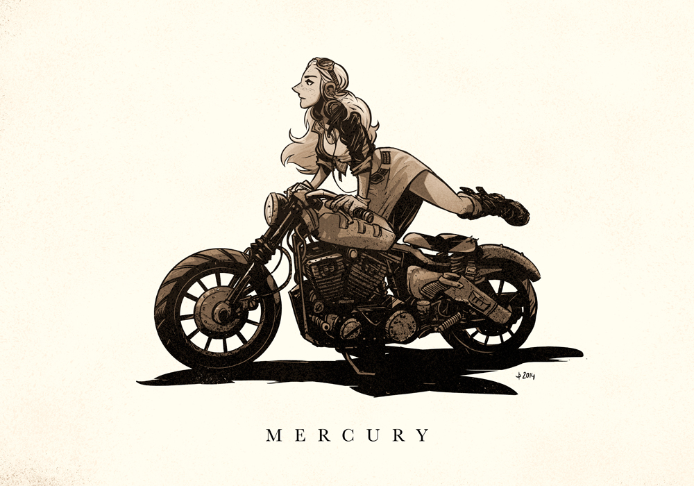 Art for  Nicolas Bannister's   Mercury  project.