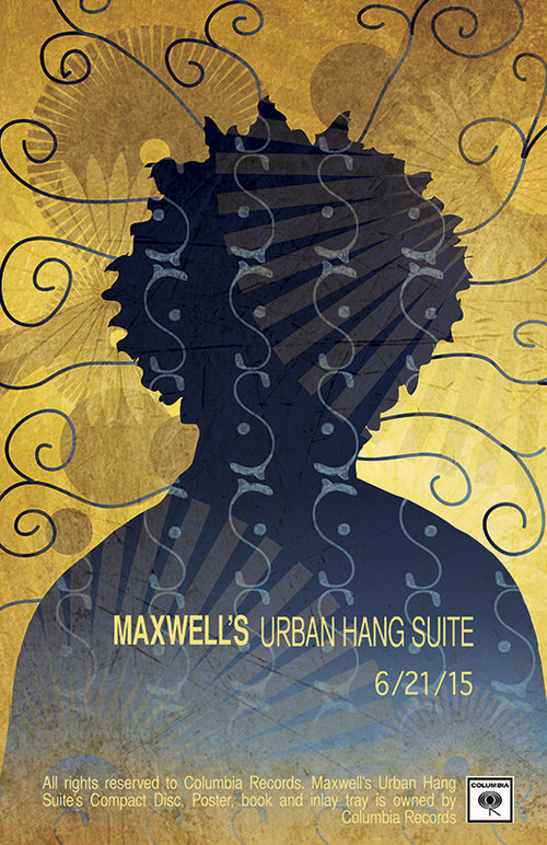 CD redesign's release poster. Of Maxwell's Urban Hang Suite.