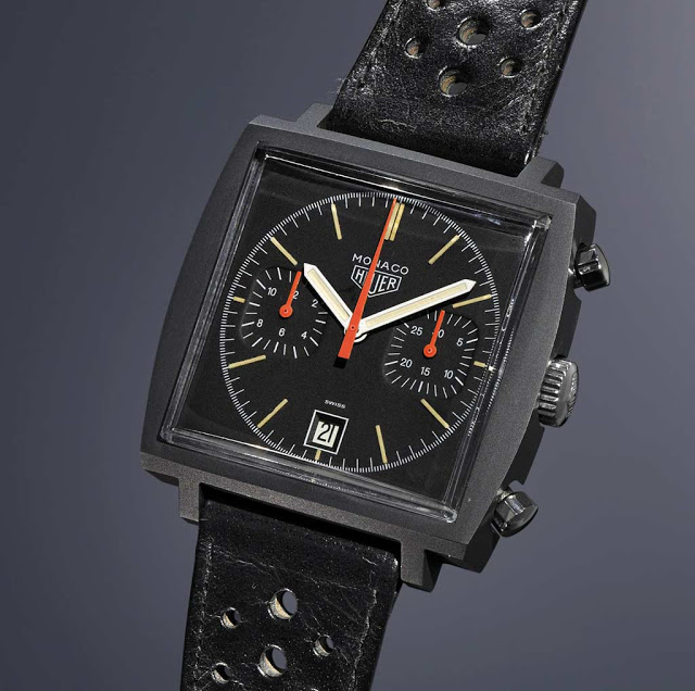 "Heuer Monaco ""Dark Lord"""