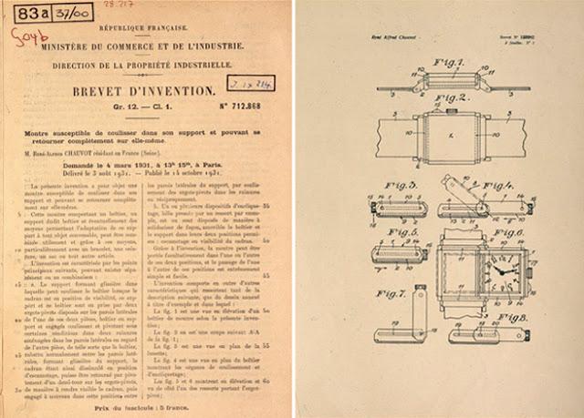 Patente y dibujos originales del Reverso