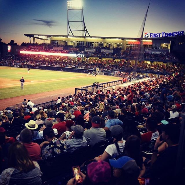 Full house. - @nashvillesounds ⚾️ • . . . . #baseball #nashvillesound #nashville #smashville #milb #labordayweekend #september #nightgames #lights #tennessee #nashvilletn #baseballgame #baseballplayers #baseballlife #nightsky #nashvilletennessee #11k #bleachers #laborday #threedayweekend #takemeouttotheballgame #ballgame