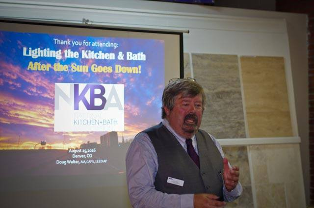 Doug speaks frequently to NKBA Chapter meetings around the country. Here, he shares his original research and case studies with a Denver audience.