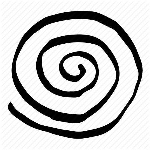 O spiral hand drawn icon.png