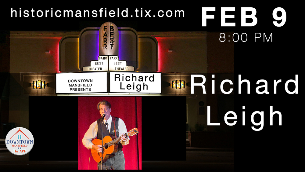 "JUST ANNOUNCED!  DMi is proud to produce Grammy-winner  Richard Leigh  at 8:00 pm February 9, 2018    Get your tickets now at  HistoricMansfield.Tix.com .   Richard Leigh is an  American   country music   songwriter  and singer. He is best known for penning "" Don't It Make My Brown Eyes Blue "" (sung by  Crystal Gayle ). In 1978 he received a  Grammy Award  for ""Best Country Song"" for this popular song. It was nominated in both pop and country categories and reached number one on both charts.  His first number one song was "" I'll Get Over You "" (1976), also sung by Crystal Gayle. Other prominent singers who have brought his songs number one status over the years include  Billy Dean ,  Mickey Gilley ,  Reba McEntire ,  Barbara Mandrell ,  Steve Wariner , and  Don Williams .  Kathy Mattea  had another number one hit with "" Come From the Heart "" in 1990. In 1999 the  Dixie Chicks  recorded Leigh's "" Cold Day in July "" for their album   Fly  , reaching Number 10 on the country music charts in 2000.  Leigh He has been nominated for songwriter of the year seven times and in 1994 he was inducted into the  Nashville Songwriters Foundation   Hall of Fame . On April 11, 2011, Leigh was one of only four chosen nationally from the American Community College System to be awarded 2011 AACC Outstanding Alumni Award for excellence in ones chosen field. [2]  He hosts the Richard Leigh Songwriter's Festival, [3]  an annual competition for new songwriting talent.       https://www.facebook.com/therichardleigh/"
