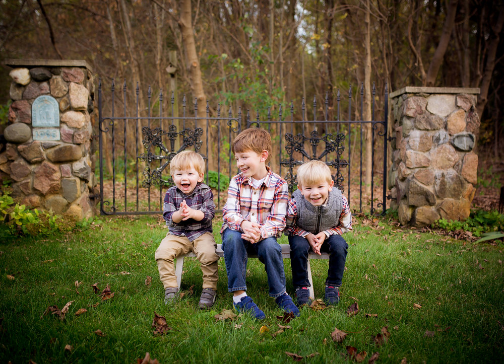 My three amazing boys that inspire my motherhood journey everyday!