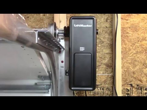 Wall mount residential garage door opener