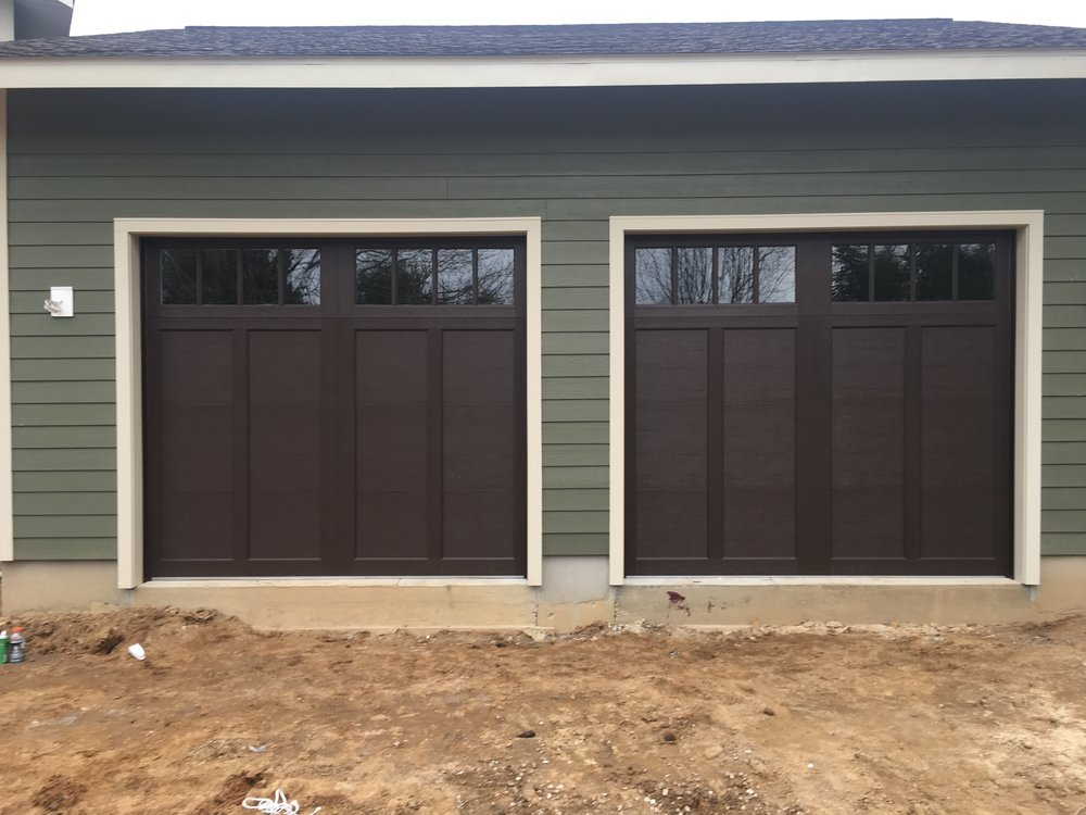 A pair of great looking garage doors