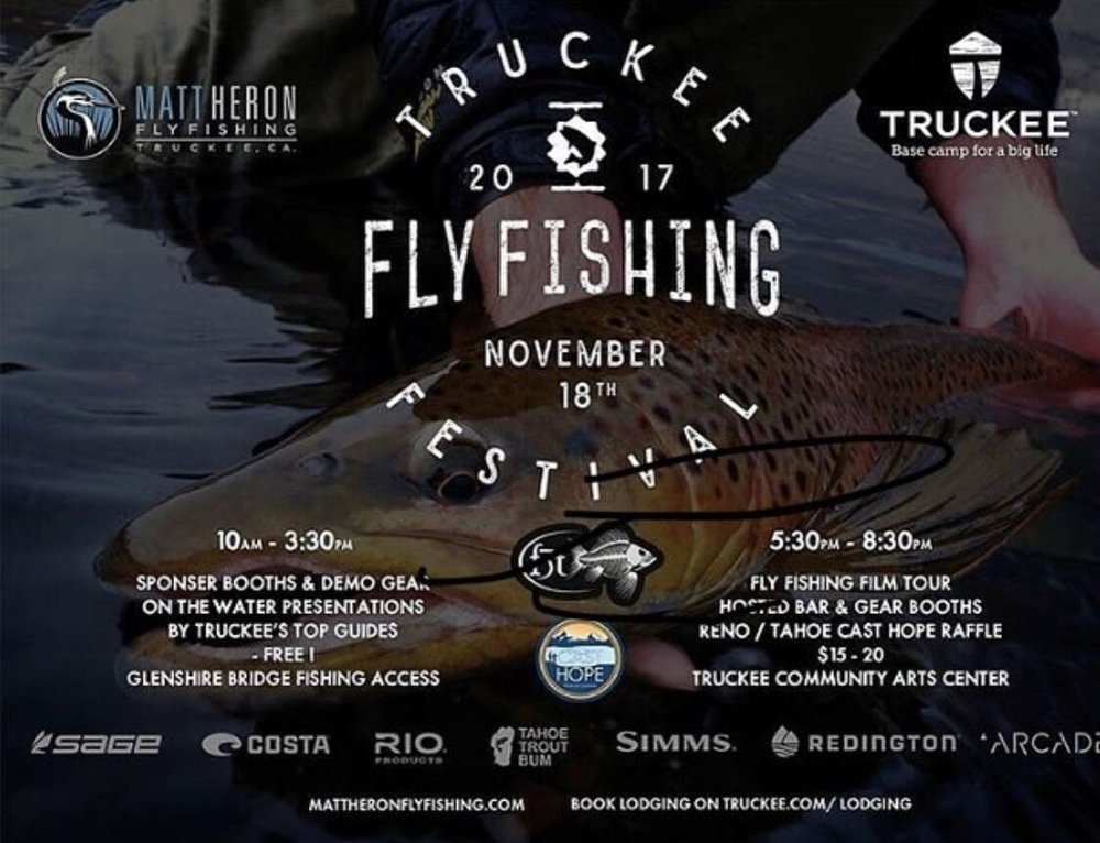 Truckee Fly Fishing Festival Flyer - If you want more information about this awesome event and the sponsors, check out this flyer. Hope to see you all next year!