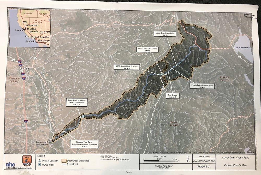 Lower Deer Creek Falls Project Map