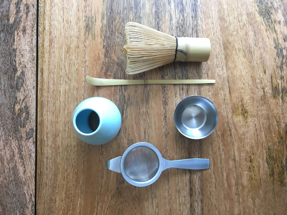 All tools included in my matcha kit