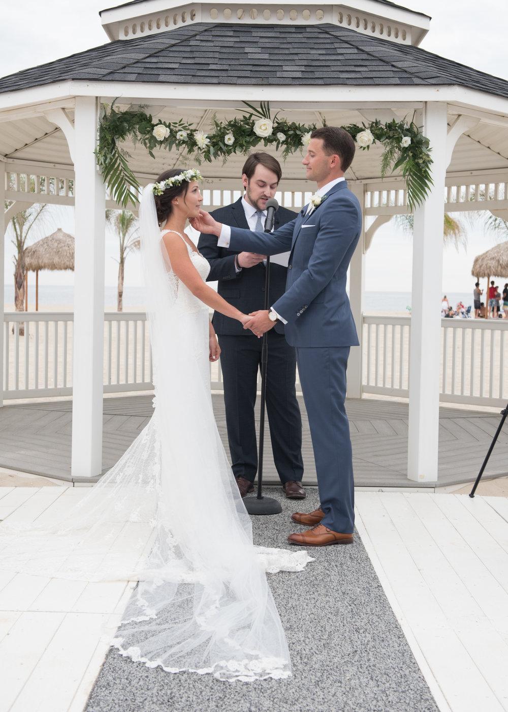 beach wedding jersey shore