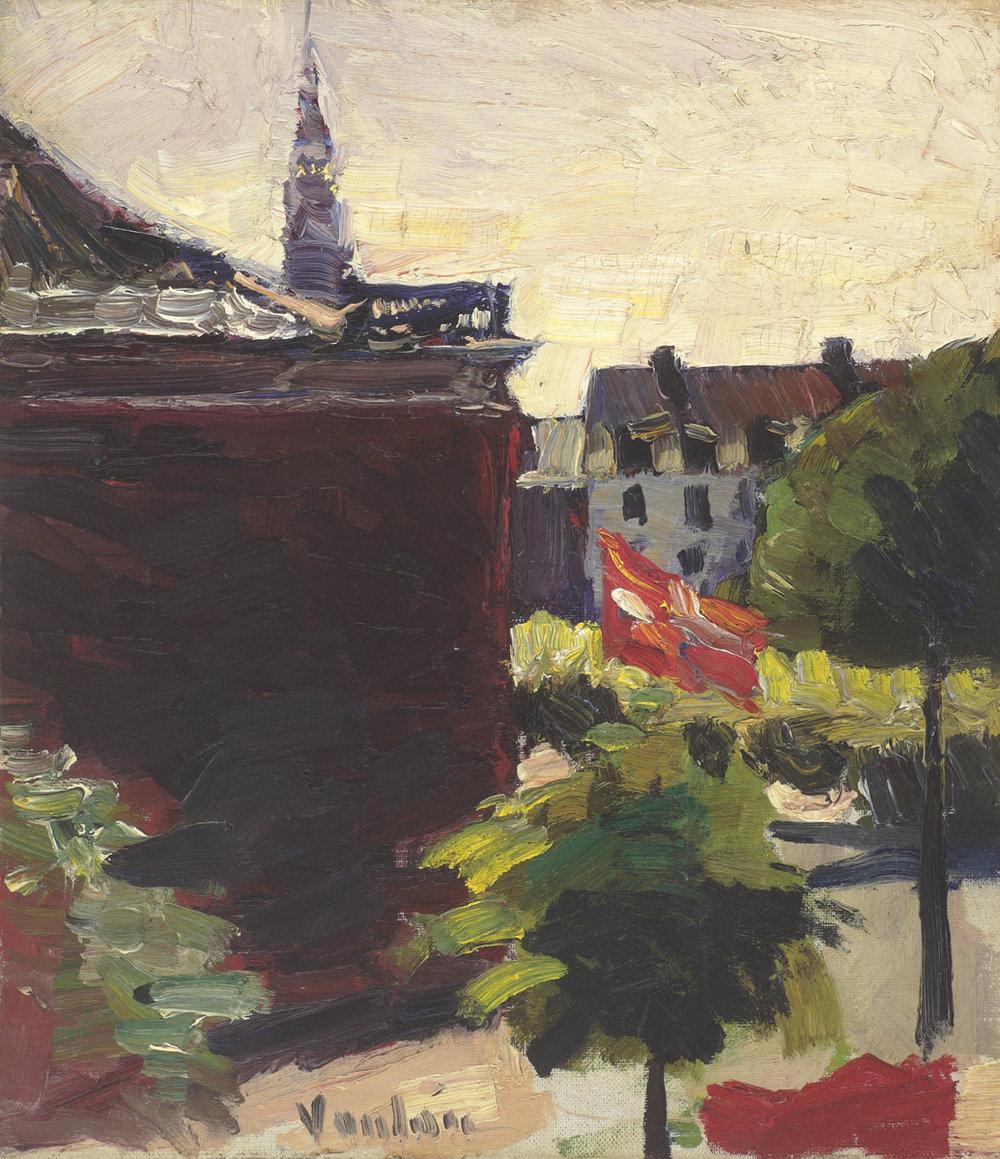 Copenhagen with Flag