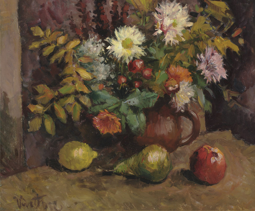 Fall Flowers with Fruit