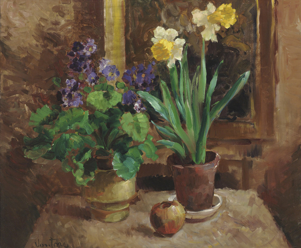 Daffodils and Violets
