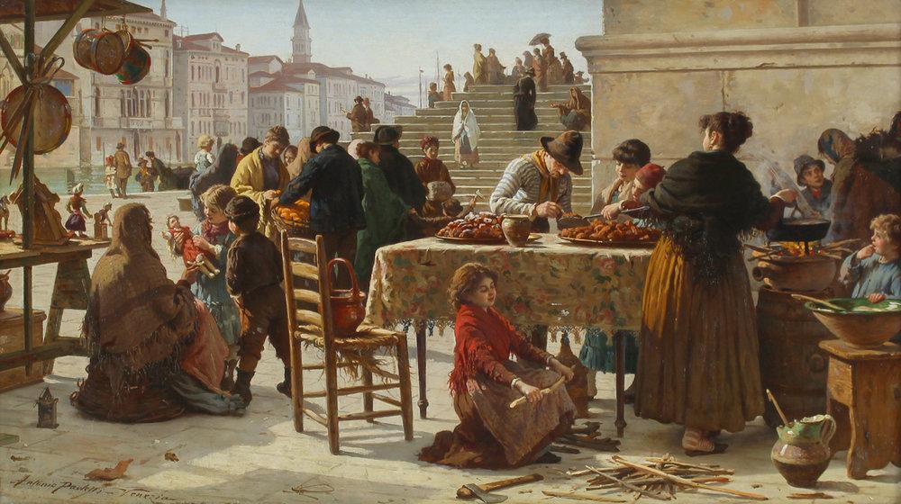 Antonio Ermolao Paoletti (Italian 1834-1912) 'Market Scene'