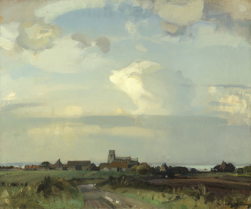 Sir John Arnesby Brown (British 1866-1955) 'Morston, Norfolk'