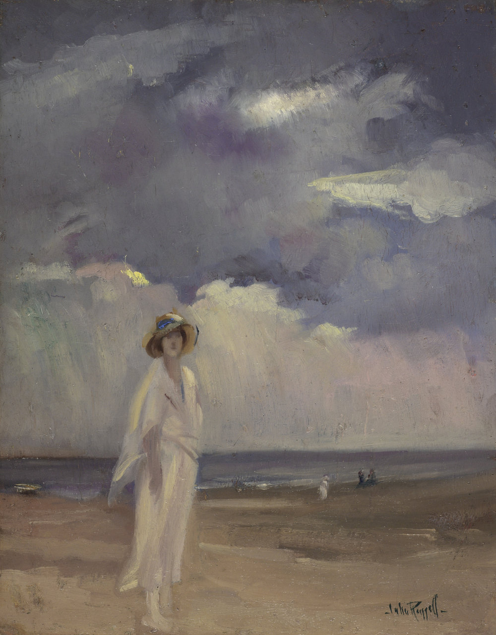 John Wentworth Russell (Canadian 1879-1959) 'Anna on the Beach'