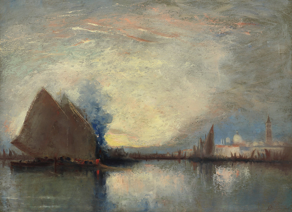 John A. Hammond, Rca, Osa (Canadian 1843-1939) 'Evening, Venice'