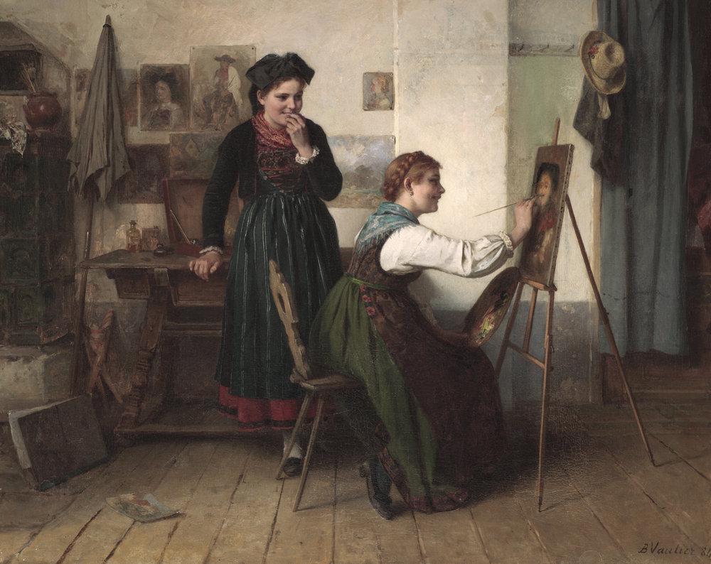 Benjamin I. Vautier (Swiss 1829-1898) 'L'atelier'