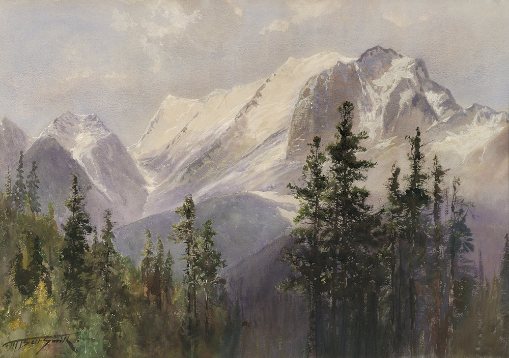 Frederic Marlett Bell-Smith (Canadian 1846-1923) 'Mountain Peak'