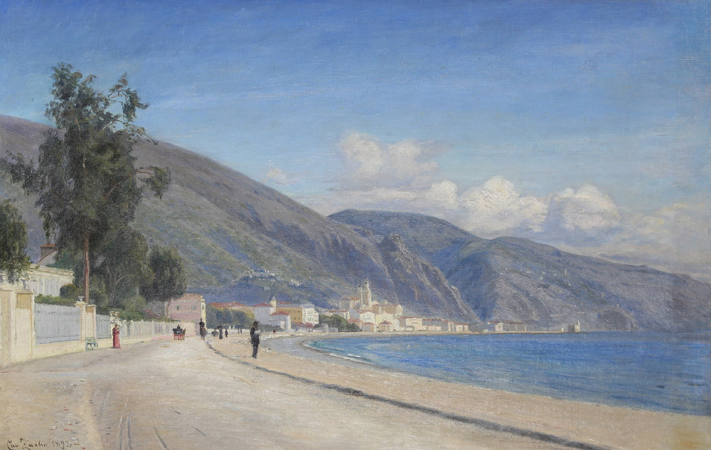 Christian Zacho (Danish 1843-1913) 'Coastal View from Menton, France'