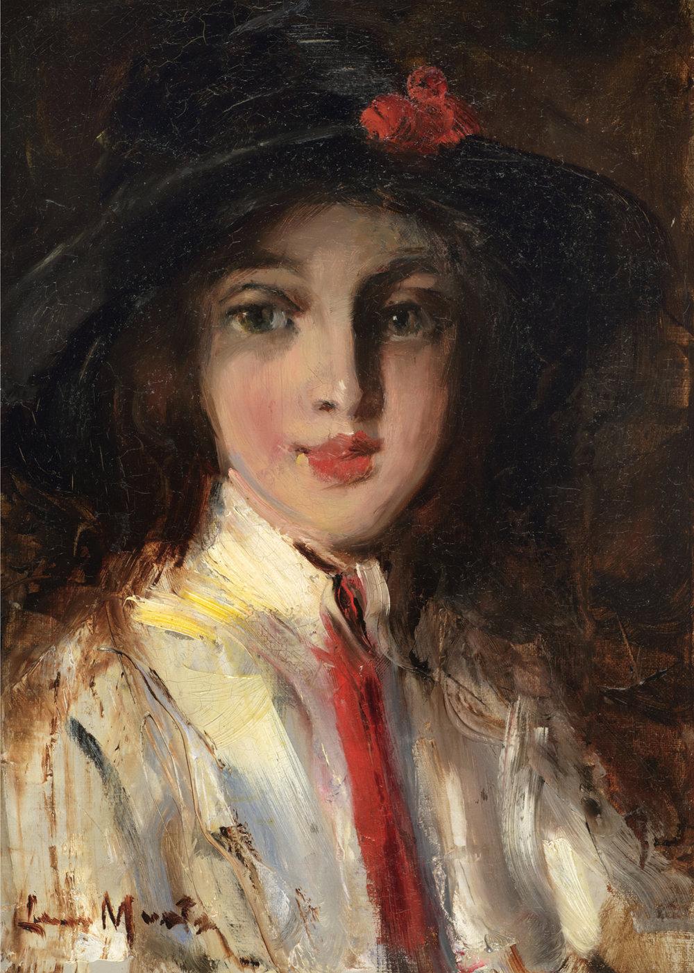 Laura Muntz Lyall (Canadian 1860-1930) 'Portrait of Bobbie MacLure'