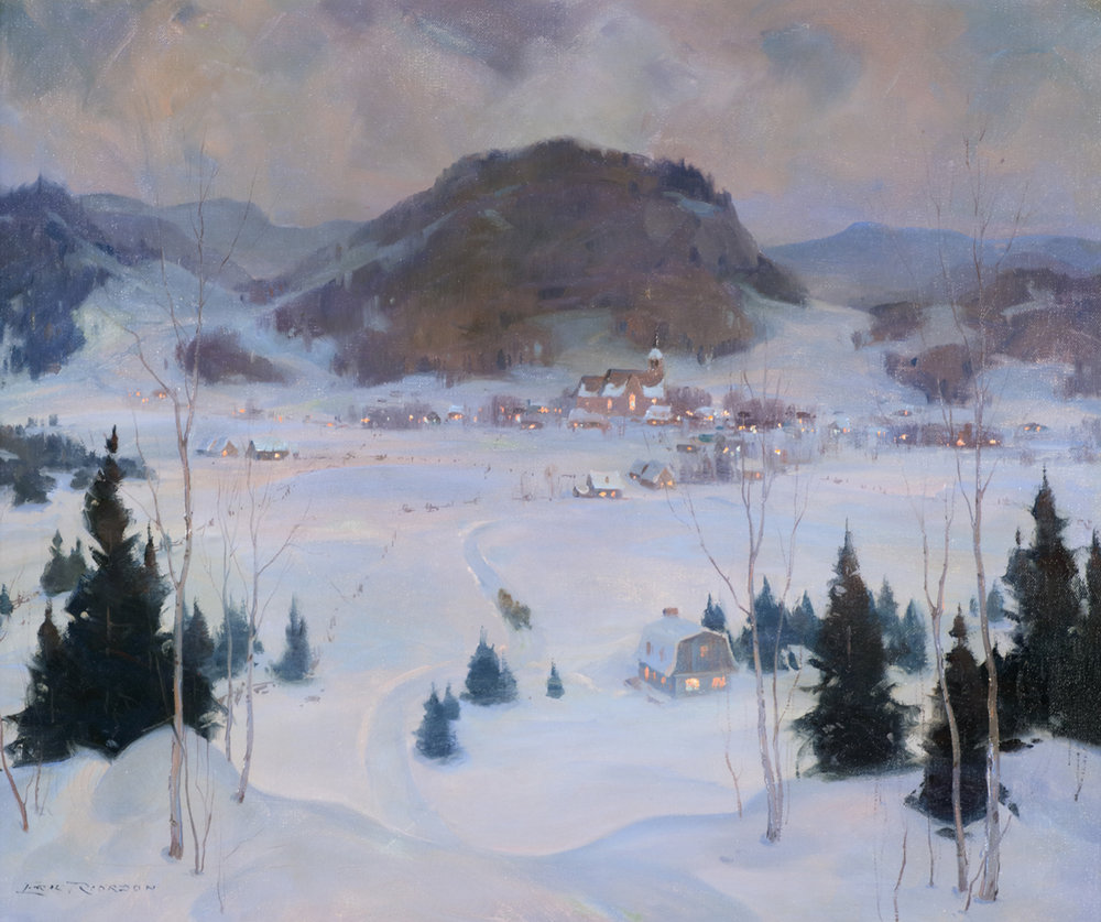 Eric Riordon (Canadian 1906-1948) 'New Year's Eve, Mt. St. Sauveur'