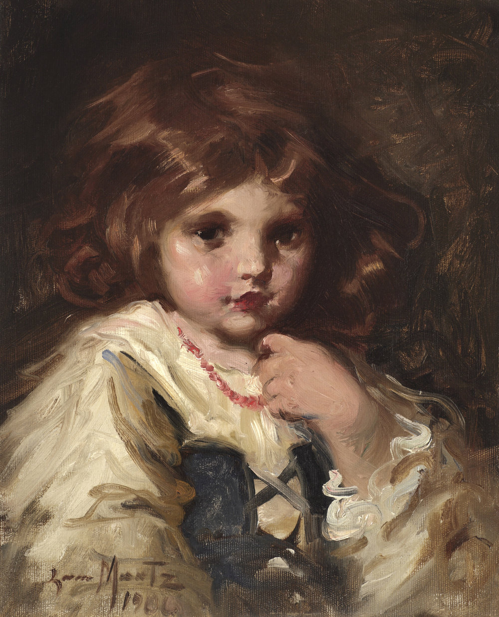 Laura Muntz Lyall (Canadian 1860-1930) 'Portrait of a Little Girl, 1906'